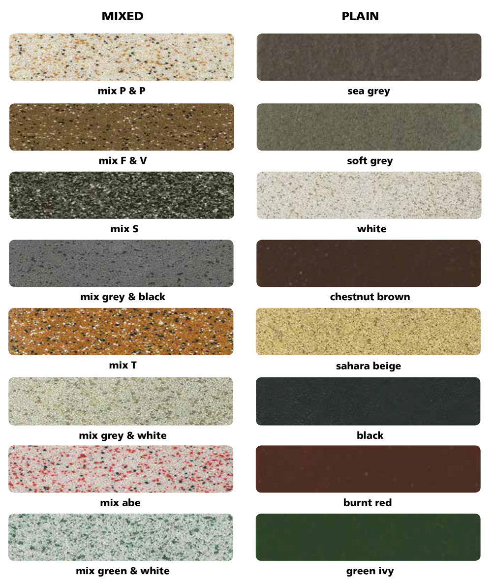 abe Construction Chemicals abescreed QC Colour Chart